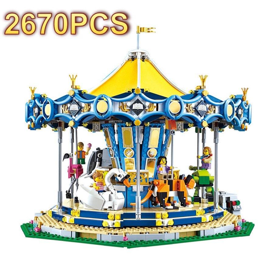 2670pcs DIY Assemble Carousel Figures Educational Small Particles Building Blocks Bricks Toys for Children Compatible Legoing2670pcs DIY Assemble Carousel Figures Educational Small Particles Building Blocks Bricks Toys for Children Compatible Legoing