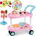 Los niños cesta de la compra luces música regalos de cumpleaños juguetes andador