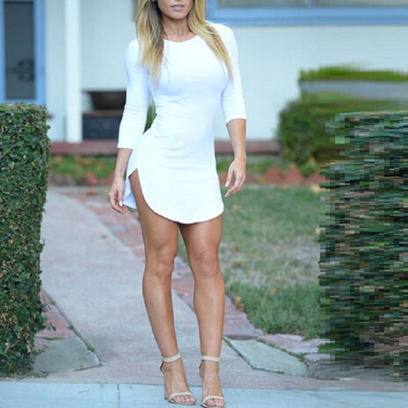 White T-Shirt Mini Dress