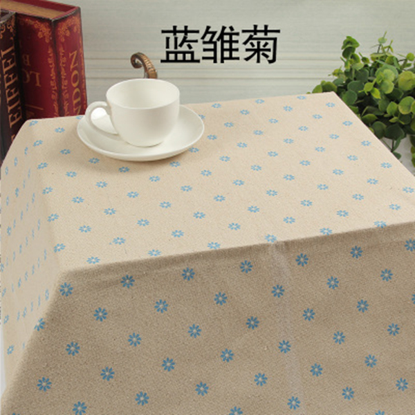 Arts,crafts & Sewing Temperate 50x150cm Diy Blue Daisy Cotton Fabric Table Cloth Handmade Sewing Pillow Cover Patchwork Sofa Curtain Tablecloth Decoration Moderate Cost