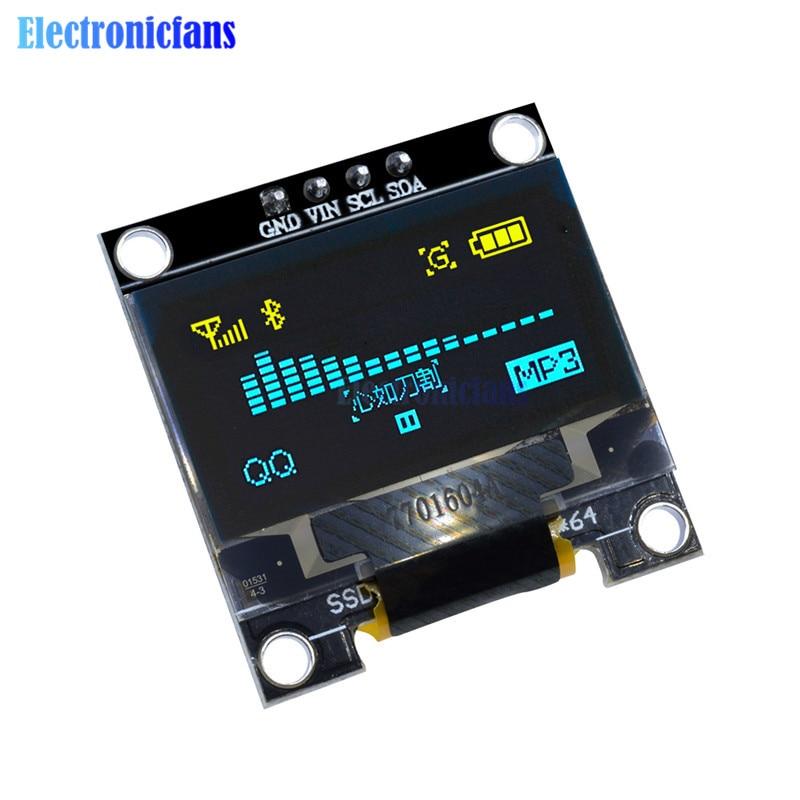 "0.96/"" I2C IIC SPI 128X64 OLED LCD LED Display Module for Arduino BLUE SSD1306"