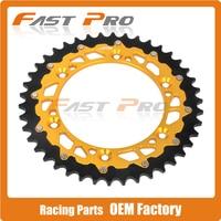 49T CNC Rear Chain Sprocket RM125 DRZ250 DR250 RMZ250 RM250 RMZ450 RMX250 Motocross Supermoto Enduro Off Road Dirt Bike Racing
