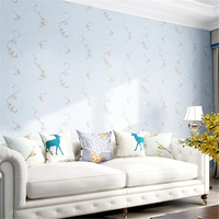 Beibehang 3d pastoral small floral non woven wallpaper bedroom living room children's room wall paper papel de parede