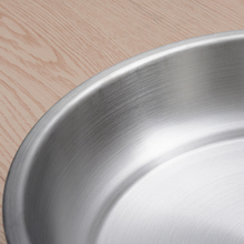 IRONX  Eco-Friendly 304 Stainless steel dinner plates round family fruit dessert plate serving tray frosted polishing  1 PCS