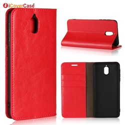 На Алиэкспресс купить чехол для смартфона luxury real genuine leather wallet case for nokia 3.1 flip cover card slot stand protect case for nokia 3.1