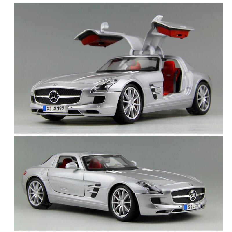 1 18 Mercede SLS Models of Metal Car Alloy Automobile Factory Collection of Adult Car Model