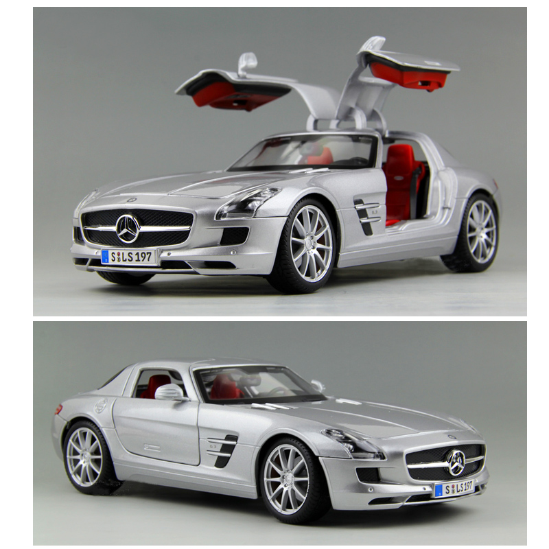 1:18 Mercede  SLS Models Of Metal Car Alloy Automobile Factory Collection Of Adult Car Model Simulation