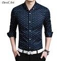 Triangle Print Fashion Contrast Color Collar Men Shirt Long Sleeve Slim Fit Shirt Men High Quality Men Designer Shirts Clothes