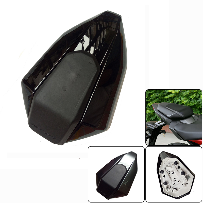 MT07 FZ07 Rear Seat Cover Cowl Painted MT-07 FZ-07 ABS Plastic for YAMAHA MT 07 FZ 07 2014 2015 2016 NEW ARRIVAL new arrival black tempered plastic motorcycle rear tail section cowl fairing cover for yamaha fz6n fz6s fz 6n 6s fz 6n fz 6s