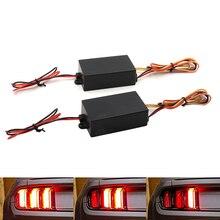 Niscarda 2x канальный последовательная 3-ступенчатое потока световой мигающий модуль коробка для автомобилей спереди или сзади указатель поворота светильник модифицированной Применение