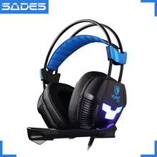 SADES Xpower Plus Vibration Headphones Deep Bass Stereo Surround Sound Headset Over ear Casque for Gamer