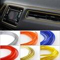 5 M Universal Car Styling Decoração Moulding Guarnição Decorativa Interna Interior Flexível Tiras Linha DIY 7 Cores de Carro-Styling