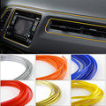 5 M Universal Car Styling Decoración Moulding Trim Tiras Decorativas de Interior Flexible de Interior Línea de BRICOLAJE 7 Colores Car-Styling