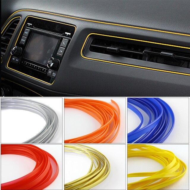 5 м универсальный автомобиль для укладки гибкий интерьер внутренний украшения Литье отделка декоративные полоски линия DIY 7 цветов автомобиль-Стайлинг