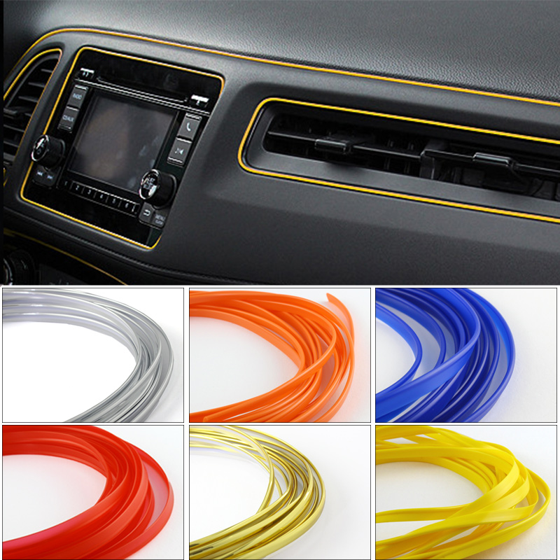 5m universal car styling flexible interior internal decoration moulding trim decorative strips. Black Bedroom Furniture Sets. Home Design Ideas