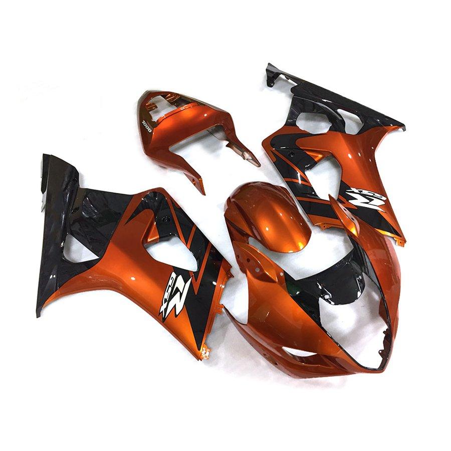 Fairing Parts For Suzuki K3 2003 2004 GSX R1000 03 04 Black Orange Fairing Bodywork Set ABS Plastic Injection Molding