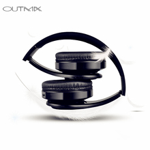 hot deal buy outmix wireless bluetooth earphones headset stereo headphones earphones with microphone /tf card for mobile phone music