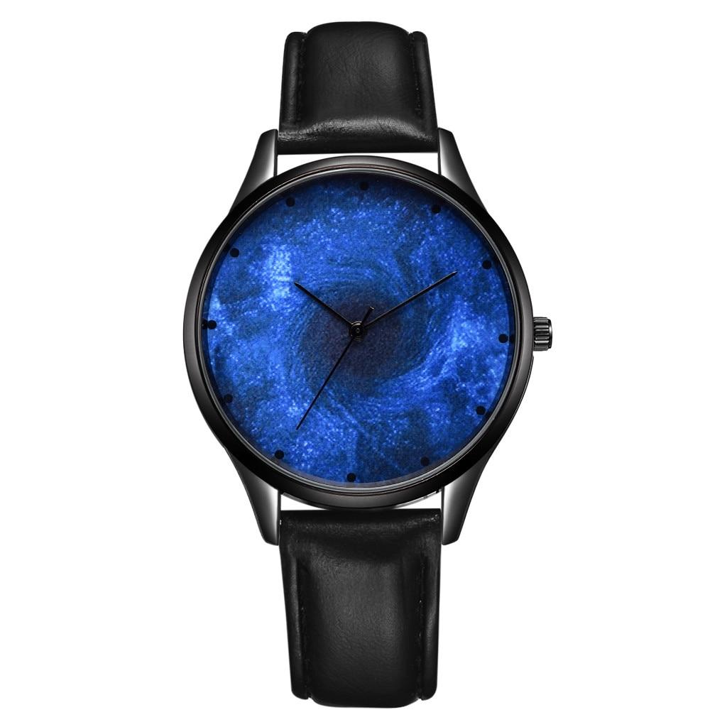 Men's Women Ladies Watches Universe Dark Blue Star Vortex Quartz Wrist Watch Relojes Hombre Reloj De Hombre Reloj De Mujer Saat