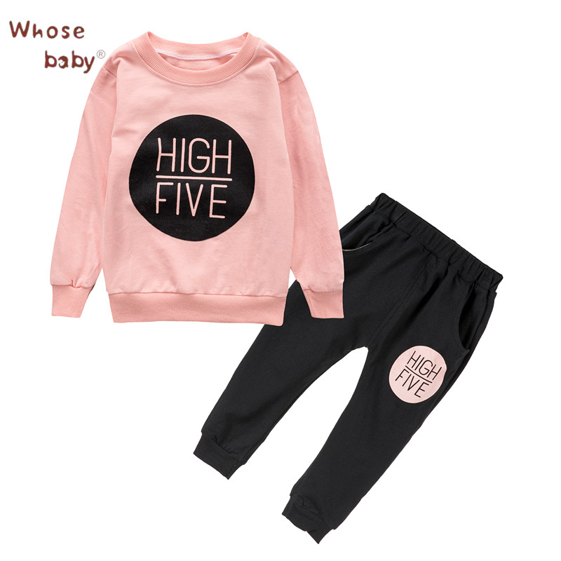 2018 Baby Clothing Set Boys Spring Letter Printed Newborn Top+Pant Fashion Infant Girls Baby Sets Autumn Baby Girls Clothes Sets mother nest 3sets lot wholesale autumn toddle girl long sleeve baby clothing one piece boys baby pajamas infant clothes rompers