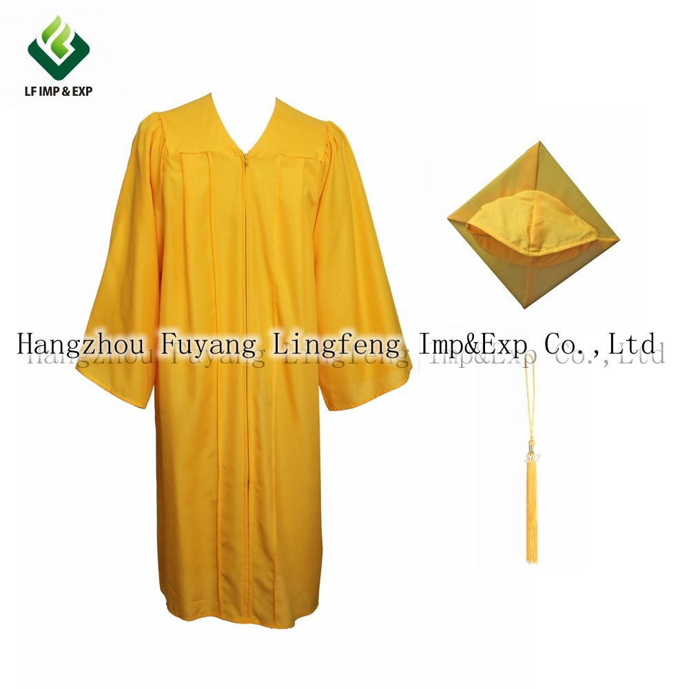 cfc48a516a7 2017 Graduation Gown For Adult 100% Matte Polyester Graduation Gown And Cap  With Tassel Customize Pretty School Uniforms For Boy-in School Uniforms  from ...