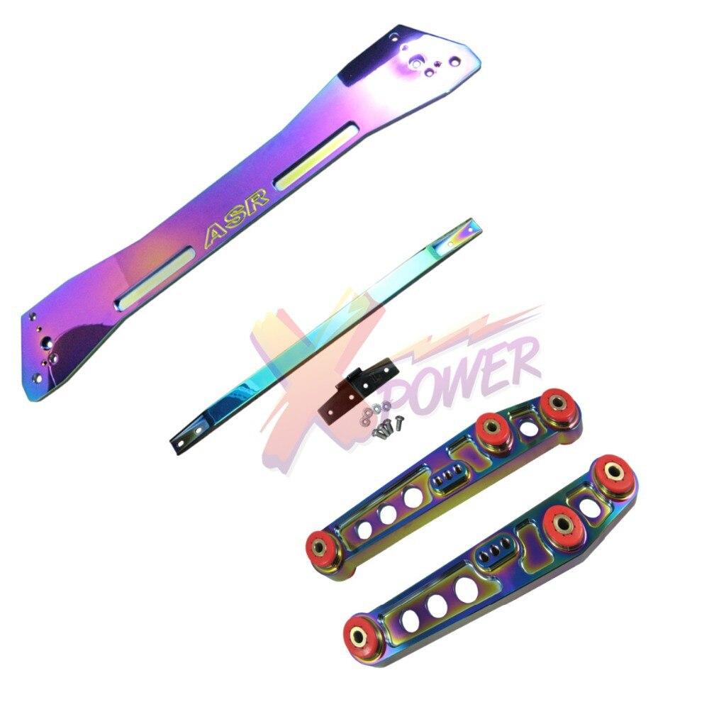Xpower-NEO хром задний нижний рычаг управления подрамник бандаж галстук-бар для Honda Civic 92-95 EG EG6