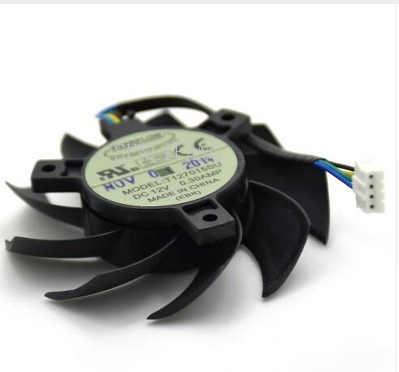 Free Shipping Original Everflow T127015SU 65 MM DC 12 V 0.30AMP 4 P 4Pin Video Grafikkarte Lufter 40*40*40 MM