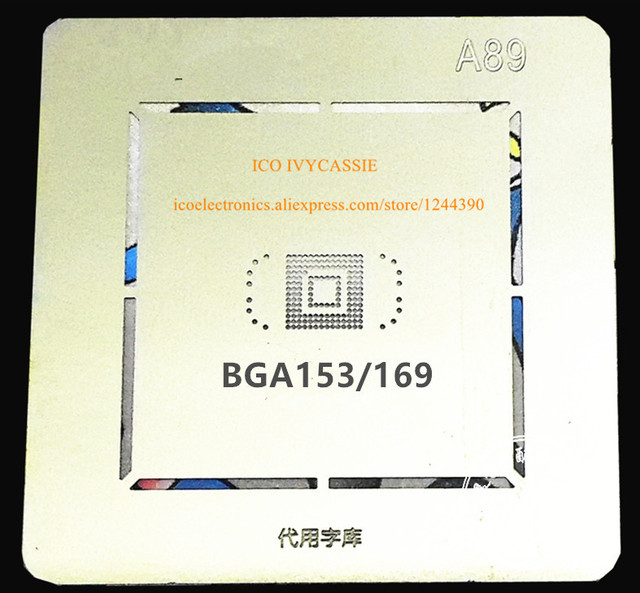 US $0 99 |For BGA153/169 emmc emcp ufs BGA Stencil Anti Drum up BGA Direct  Heating Template Thickness A89-in Integrated Circuits from Electronic