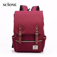 2017 Canvas Casual Vintage Large Capacity Travel Bag Hipster Laptop Computer Rucksack Package Men Daily Backpacks