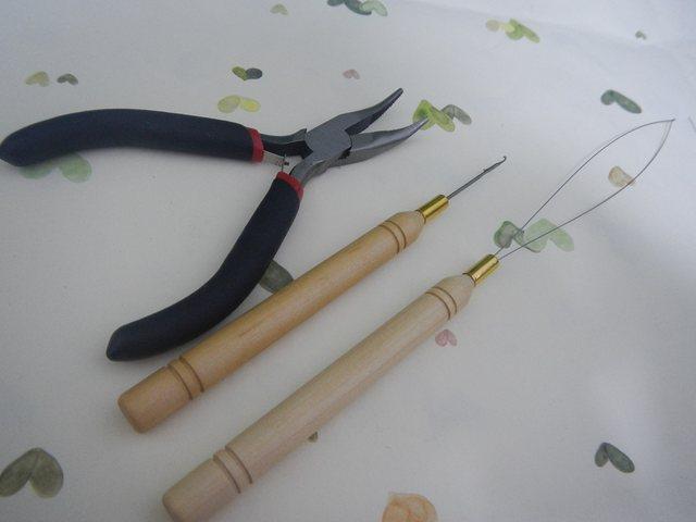 Online Shop Hair Pliers Kits Set Ez Loop Threader Hook Needle For
