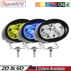 BraveWay 1 sztuk reflektory Led do motocykla samochód ciągnik siodłowy SUV ATV Off-Road Led światło robocze 12V 24V światła przeciwmgielne wspomagane lampy