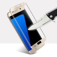 Для Samsung Galaxy S7 Телефон Витрины Передняя Крышка Пленки Протектора Экрана Окна Для Samsung Galaxy S7 Edge Закаленное Стекло