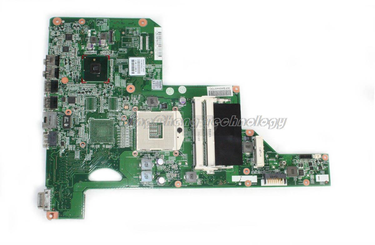 For hp compaq G62 G72 G73 CQ62 605903-001 Original laptop Motherboard for intel cpu with HM55 integrated graphics card DDR3 for hp g62 g72 laptop motherboard with graphics 615848 001 01013y000 388 g