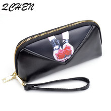 купить Wallets Women Long Zipper Luxury Brand Leather Coin Purses Tassel Design Clutch Wallets Female Money Bag Credit Card Holder  447 по цене 574.84 рублей