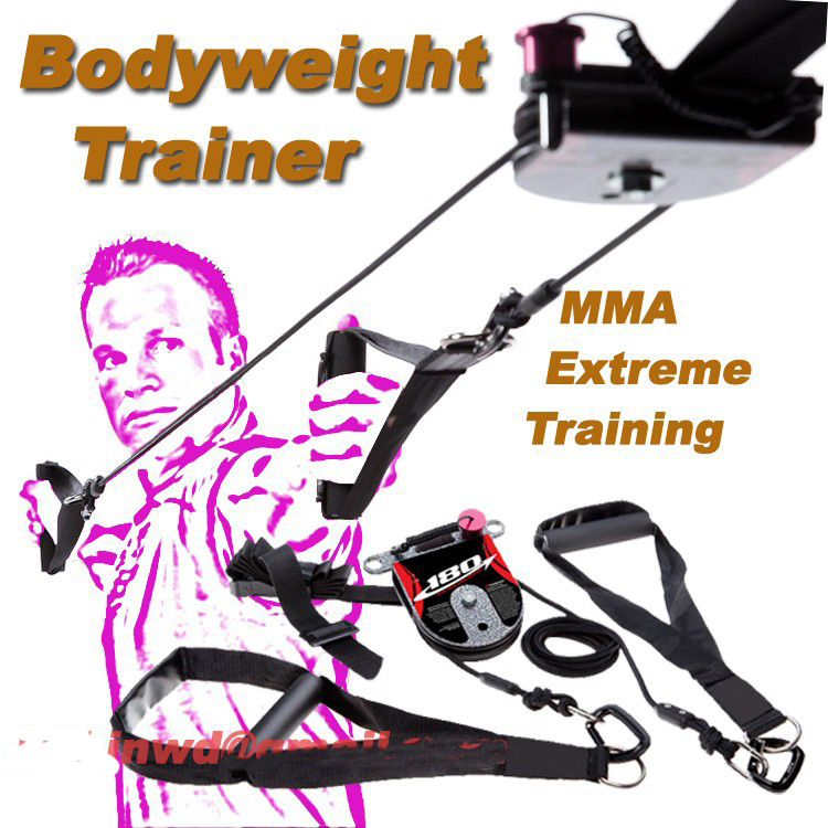 MMA&Extreme training Rotational Bodyweight Trainer cross pulley training system core workout.New arrival band. 1 pair boxing training sticks target mma precision training sticks punching reaction target muay thai grappling jujitsu tools