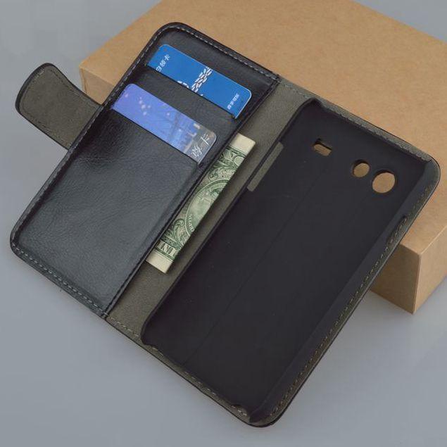 Crazy Horse patroon lederen Portemonnee achterkant Voor Samsung Galaxy S Advance i9070 GT-i9070 mobiele telefoon case