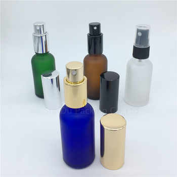 travel bottle 30ml amber blue green transparent frosted glass bottle with sprayer, 30cc perfume bottle Spray Bottles 240pcs