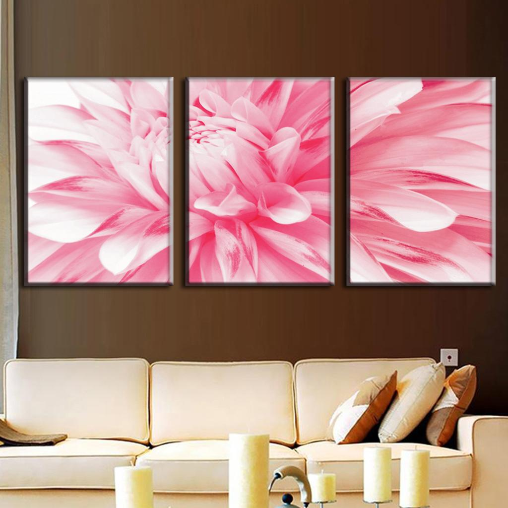 3 pcsset flowers painting pink daisies canvas prints modern wall 3 pcsset flowers painting pink daisies canvas prints modern wall paintings art on canvas painting 3 pieces in painting calligraphy from home garden on mightylinksfo