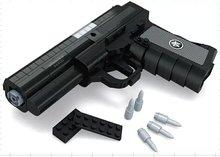 Qsz92 semi – automatique pistolet armes modèle 1:1 3D 327 pcs noir modèle brique Gun Building Block Set jouet Compatible avec Lego