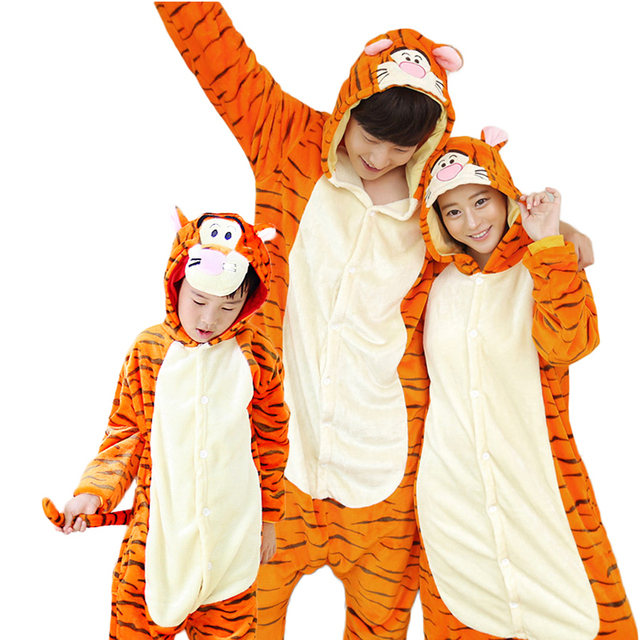family matching pajamas onesie pajamas home clothing animal sleepwear adults kids tiger christmas mother daughter clothes