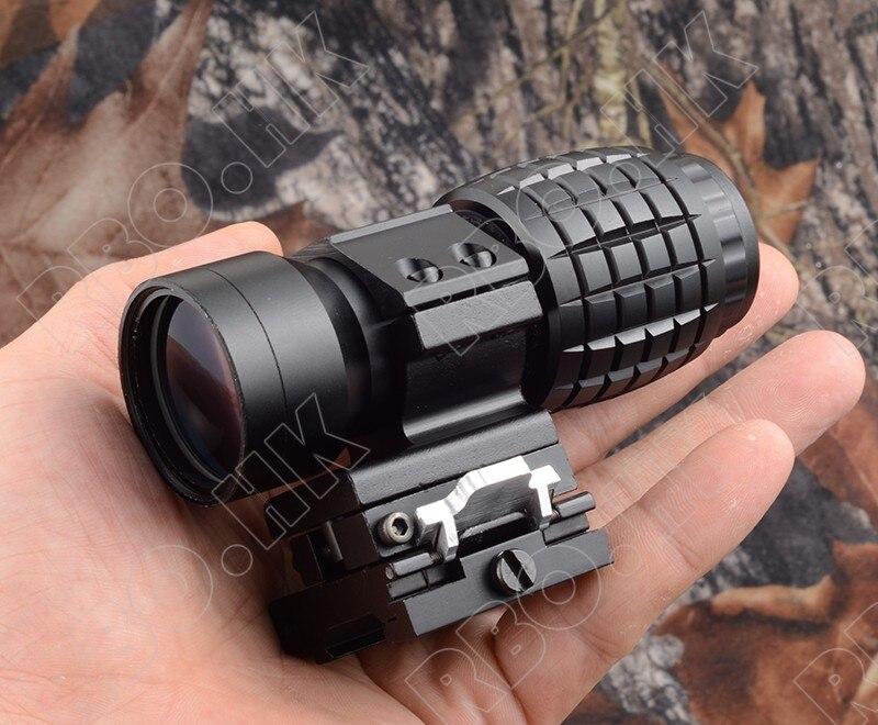 Tactical red dot sight scope 3x Magnifier Compact Tactical Sight with Flip picatinny gun rail mount M7600 стоимость