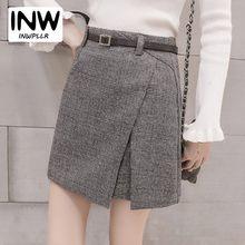 9c0e21e4ac Women Skirt Fashion 2018 Plaid Faldas Femininas Irregular High Waist Skirts  Ladies's Casual Autumn Vintage Jupe