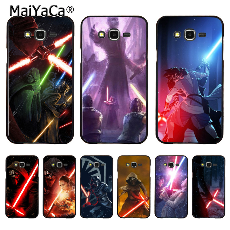 MaiYaCa REY KYLO REN LIGHTSABER FIGHT 2018 Colored Drawing Hard Case for samsung J510 j1 j3 j7 note 3 note4 note5 case coque