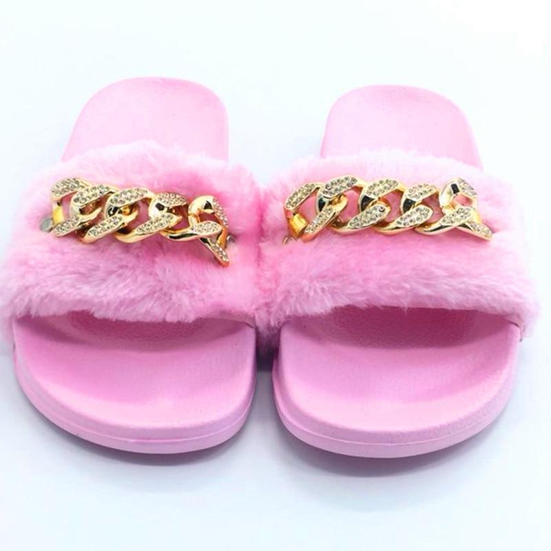 AoXunLong Zapatillas Mujer Furry Slide Zapatillas de casa Moda - Zapatos de mujer - foto 4