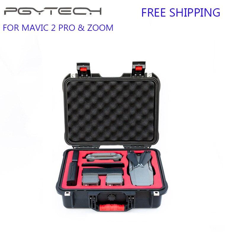 Caso DJI Mavic 2 PGYTECH À Prova D' Água Segurança Viagens Caixa De Armazenamento Portátil Carry Case Mavic 2 Zoom Pro Drone Acessórios