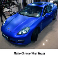 Matte ICE Chrome Car Wrap Vinyl Film Matt Vinyl Foil Air Bubble Free Covering Styling Vinyle