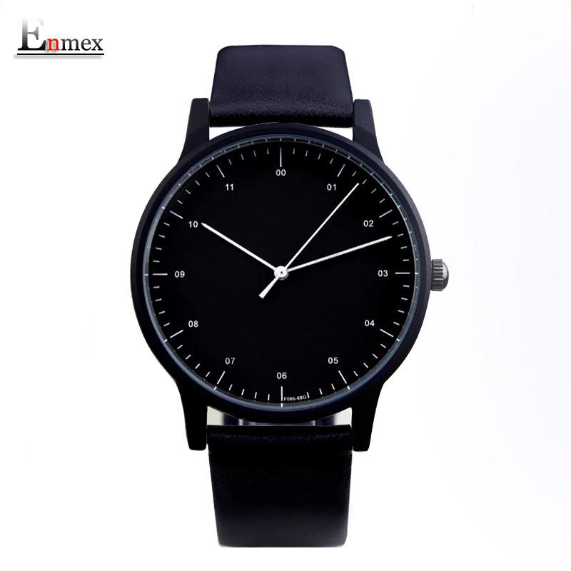 Prix pour 2017 cadeau enmex style cool montre-bracelet brève vogue simple élégant avec noir et blanc visage brève casual quartz montre de mode