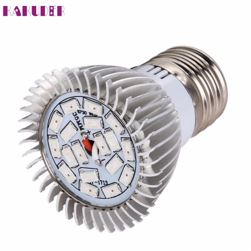 High Quality 18 LED E27 Grow Light Lamp Veg Flower Indoor Hydroponic Plant Full Spectrum 18W