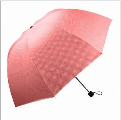 파라과이 Plegable 분홍색 우산을 접히는 상표 우산 비 여자