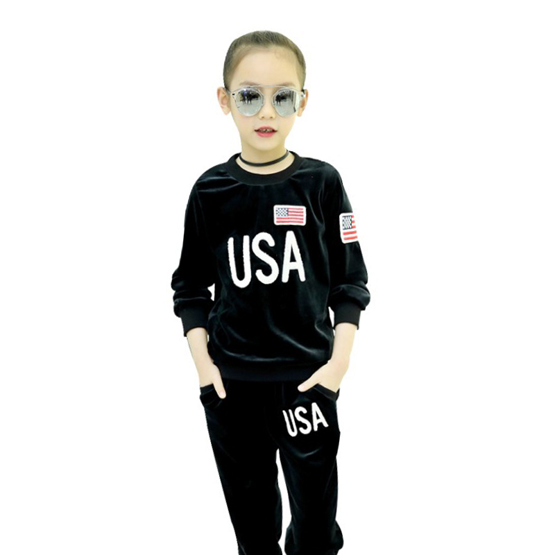 Autumn Baby Girl Clothing Sets Kids Sports Suit 10 13 Years Girls Clothes Suit For Child Teenage Children Long Sleeve Pullovers girls suit 2017 autumn children s clothing smile pattern sports set big kids girl bat long sleeve 2 pcs sets black pink clothes
