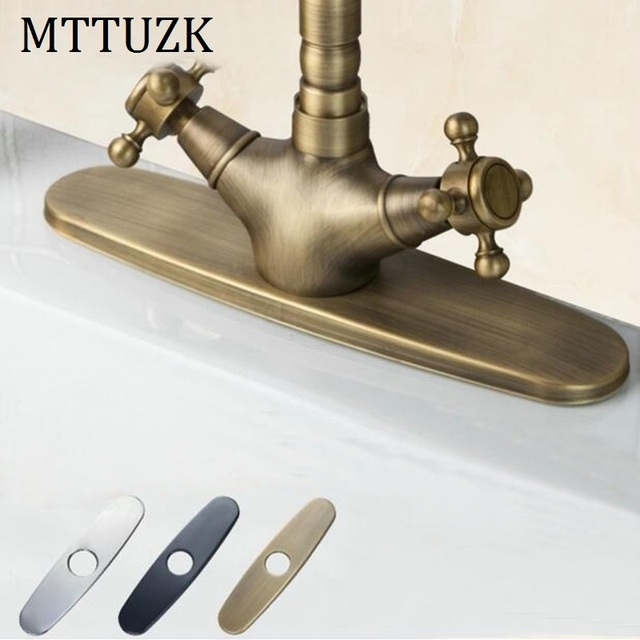 Mttuzk Antique Barss Black Chrome 10 Bathroom Kitchen Sink Faucet